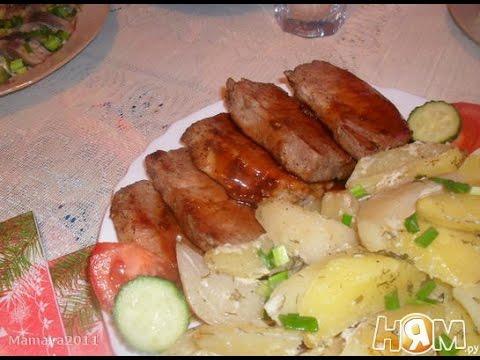 Говядина в соусе кьянти с запеченным картофелем. Рецепт приготовления