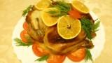 Курица, ФАРШИРОВАННАЯ яблоками, под апельсиновым соусом. Новогодний стол. Видео рецепт