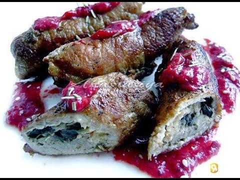 Свинина под клюквенным соусом. Рецепт приготовления
