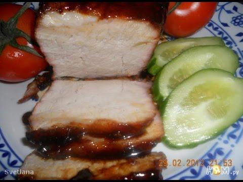 Свиной карбонат запеченный. Рецепт приготовления