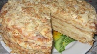 Торт Старый Наполеон. Рецепт приготовления. Видеоинструкция