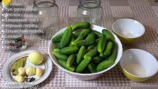 Маринованные огурцы рецепт + видео рецепт